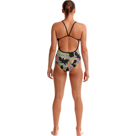 Funkita Single Strap Swimsuit Women, negro/Multicolor